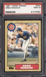 1987 Topps Traded #70 Greg Maddux PSA 9 Mint RC Rookie  ID: 302311