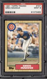 1987 Topps Traded #70 Greg Maddux PSA 9 Mint RC Rookie  ID: 302312