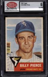 1953 Topps #143 Billy Pierce SCD 6 EX-Mint