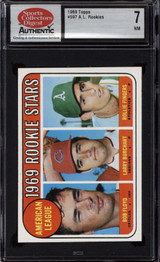 1969 Topps #597 Bobby Floyd/Larry Burchart/Rollie Fingers A.L. Rookes SCD 7 Near Mint RC Rookie