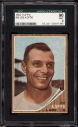 1962 Topps #39 Joe Koppe SGC 9 Mint