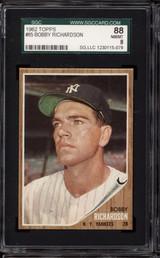 1962 Topps #65 Bobby Richardson SGC 8 NM-Mint