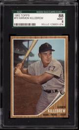 1962 Topps #70 Harmon Killebrew SGC 8 NM-Mint