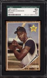 1962 Topps #86 Donn Clendenon SGC 8.5 NM-Mint+ RC Rookie