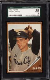 1962 Topps #342 Ed Rakow SGC 8 NM-Mint