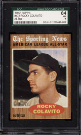 1962 Topps #472 Rocky Colavito AS SGC 7 Near Mint