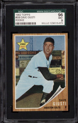 1962 Topps #509 Dave Giusti SGC 9 Mint RC Rookie
