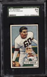 1951 Bowman #2 Otto Graham SGC 7 Near Mint