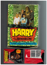 """1987 Topps Harry And The Henderson Wax Box 36 Packs Black Line Box  """""""""""