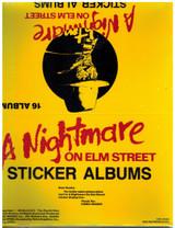 "1984 Comic Image A Nightmare On Elm Street Sticker Album  16 Albums """""