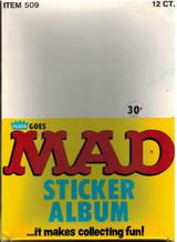 "1983 Fleer Mad Sticker Album Box Of 12  """""