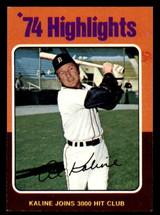 1975 Topps #4 Al Kaline HL Ex-Mint