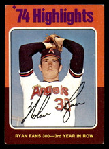 1975 Topps #5 Nolan Ryan HL Excellent