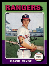 1975 Topps #12 David Clyde Ex-Mint  ID: 302394