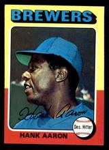 1975 Topps #660 Hank Aaron Ex-Mint  ID: 302910