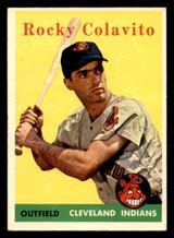 1958 Topps #368 Rocky Colavito Ex-Mint