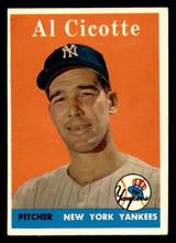 1958 Topps #382 Al Cicotte Ex-Mint