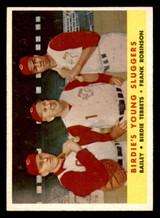 1958 Topps #386 Ed Bailey/Birdie Tebbetts/Frank Robinson Birdies' Young Sluggers Ex-Mint  ID: 303182