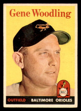 1958 Topps #398 Gene Woodling Excellent  ID: 303183