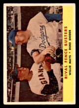 1958 Topps #436 Willie Mays/Duke Snider Rival Fence Busters Excellent  ID: 303188