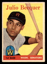 1958 Topps #458 Julio Becquer Excellent RC Rookie  ID: 303190