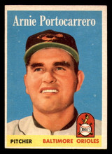 1958 Topps #465 Arnie Portocarrero Excellent  ID: 303191
