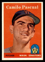 1958 Topps #219 Camilo Pascual Ex-Mint  ID: 303194