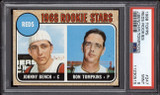 1968 Topps #247 Johnny Bench PSA 9 Mint RC Rookie Reds NEW Holder