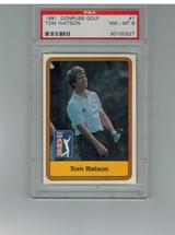 1981 Donruss #1  Tom Watson  PSA 8 NM-MT  #*