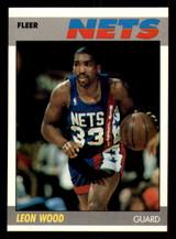 1987-88 Fleer #127 Leon Wood Near Mint+ Basketball  ID: 303519
