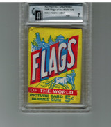 1955 Topps Flags Of The World 5 Cents Unopened Wax Pack GAI 7 NM  #*