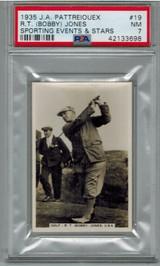 1935 J.A. Pattreiouex Sporting Event Stars #19 R.T. (Bobby) Jones Golf   PSA 7 NM    #*