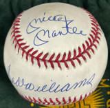 Triple Crown Winners Signed AL Baseball Mickey Mantle Ted Williams Yaz Robinson UDA