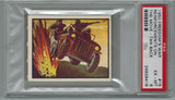 1950 Topps Freedom War #15 Reinforcements On The Move PSA 6 EX-MT Tan Back  #*