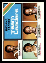 1975-76 Topps #279 George McGinnis/Billy Keller Indiana Pacers Team Leaders TL Excellent+