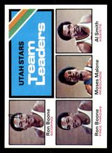 1975-76 Topps #286 Ron Boone/Moses Malone/Al Smith Utah Stars Team Leaders TL Near Mint+