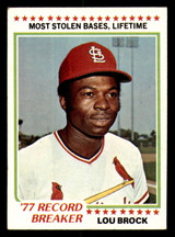 1978 Topps #1 Lou Brock RB Excellent+
