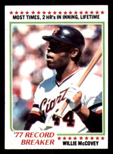 1978 Topps #3 Willie McCovey RB Ex-Mint