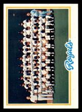 1978 Topps #724 Royals Team Near Mint