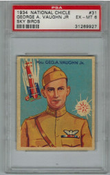 1934 National Chicle Sky Bird #31 Geo. A. Vaughn Jr PSA 6 EX-MT  #*