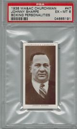 1938 WA & AC CHURCHMAN #47 JOHNNY SHARPE PSA 6 EX-MT  #*