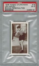 1938 WA & AC CHURCHMAN #18 LEN HARVEY PSA 5 EX   #*