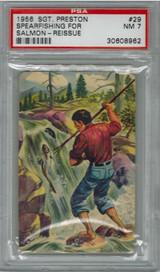 1950/56 Sgt. Preston #29 Spearfishing Fpr Salmon  PSA 7 NM  #*