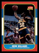 1986-87 Fleer #125 Herb Williams Ex-Mint RC Rookie  ID: 306416