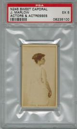 1884 N245 ACTORS & ACTRESSES J. MARLOW PSA 5 EX  #*