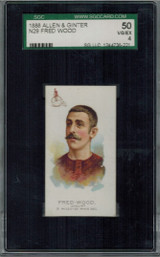 1889 N29 THE WORLDS CHAMPION (2ND) FRED WOOD SGC 50 VG-EX 4    #*