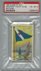 1910 T59 FLAGS OF ALL NATIONS NEWPORT YACHT CLUB  PSA 4  VG- EX    #*  #*