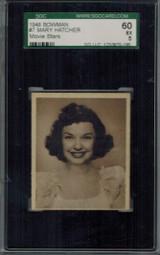 1948 Movie Stars #7 Mary Hatcher  SGC 60 EX 5  #*