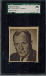 1948 Movie Stars #12 William Demarest  SGC 60 EX 5  #*