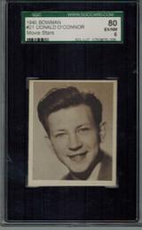 1948 Movie Stars #21 Donald O'Connor  SGC 80 EX-NM 6   #*